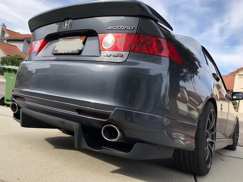 Rear Diffuser Type FM Style Acura TSX - Acura tsx exhaust