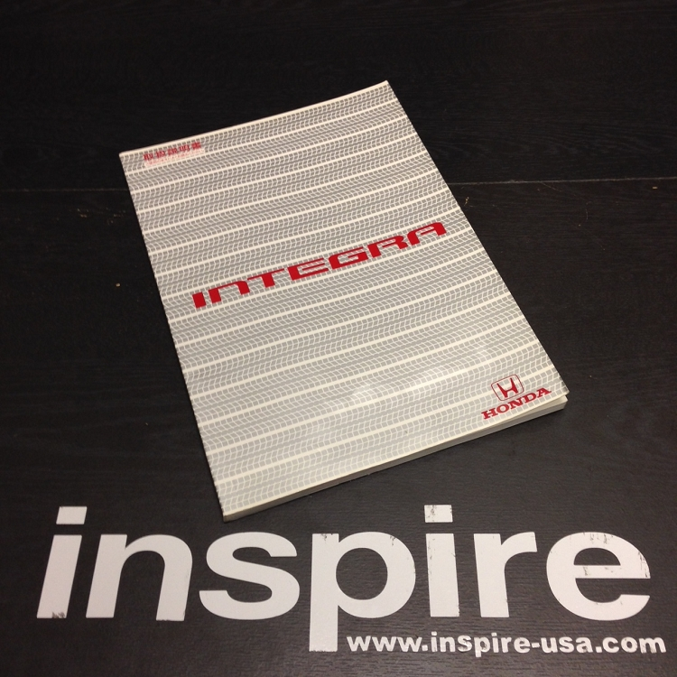JDM Honda Integra User Manual (USED