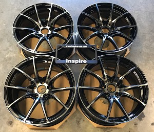 Weds Wheels Wedssport SA10R 18x9.5 +38 5x114.3 Zebra Black Bright
