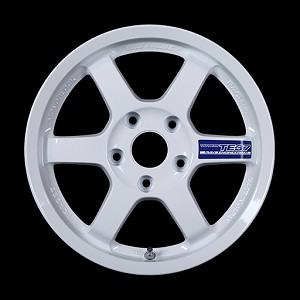 Volk Racing TE37 Gravel Wheel - 15x7.0 / 5x100 / Offset +35 (White)