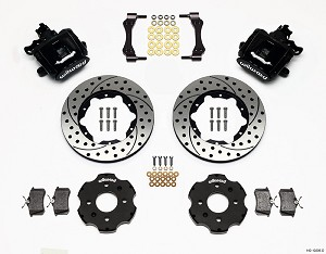 Wilwood Combination Parking Brake Caliper Rear Brake Kit - Acura Integra / Honda Civic (Drilled & Slotted)
