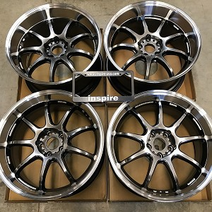 Work Wheels Emotion D9R 19x9.5 19x10.5 staggered GT Silver