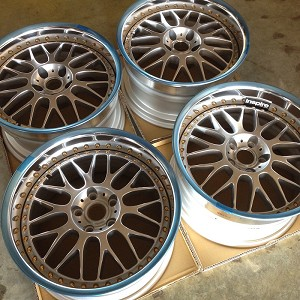 Work Wheels VSXX 18x10 5x114.3 Staggered Offset Burning Silver with Gold Hardware