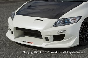 CWEST CR-Z/ZF1 CR-Z FRONT BUMPER without Fog Mount PFRP