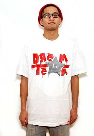 Dream Team - White Tee w/ Red/Silver Logo
