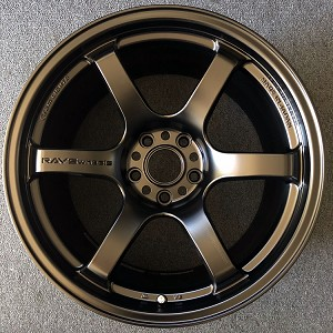 Rays Wheels Gram Lights 57DR Semi Gloss Black 18x9.5 & 18x10.5 +22 5x114.3 Staggered