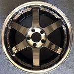 Rays Wheels Volk Racing TE37SL 18x9.5 +40 5x114.3 Pressed Double Black