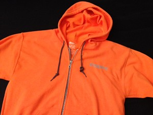 Inspire USA Limited Edition Zip Hooded Sweatshirt Free Run Orange Gray
