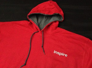 Inspire USA Limited Edition Hooded Sweatshirt Raging Red Gray