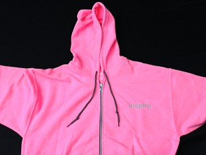 Inspire USA Limited Edition Zip Hooded Sweatshirt Salmon Gray