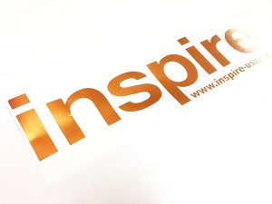 Inspire USA Decal Copper (16 inches)