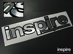 Inspire USA Decal Brushed Aluminum on Black (16 inches)