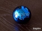 inspireUSA Titanium Blue Shift Knob Round (Honda Pitch 10x1.5mm)