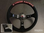 J's Racing Extreme Racers Type D Suede Steering Wheel