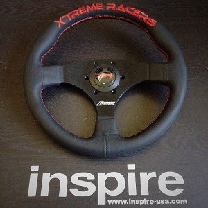 J's Racing Type F Steering Wheel (Red Stitch)