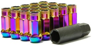 Muteki SR48 Open End Lug Nuts - Neon 12x1.50 48mm