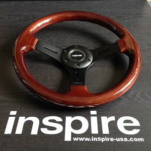 NRG Classic Wood Grain Steering Wheel Matte Black