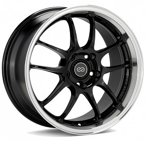 Enkei PF01SS Wheel - 17x9.0 / 5x114.3 / Offset+60 (Gloss Black with Machined Lip)