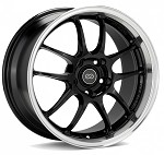 Enkei PF01SS Wheel - 17x8.0 / 5x114.3 / Offset+50 (Gloss Black With Machined Lip)