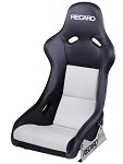 Recaro Pole Position - Leather Black / Suede Grey