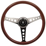 Nardi Classic Anni 60 Wood (round holes) - 360mm (Polished w/ Holes / Mahogany)