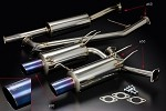 TODA Racing Exhaust System (Straight Exhaust Tip) - Honda K20A (CL7)