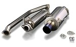 TODA Racing Exhaust - Honda K20A (EP3) (Straight Exhaust Tip)