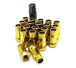Muteki SR45R Lug Nuts - Yellow - 12x1.25