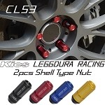 Project Kics Leggdura Racing Shell Type Lug Nut 53mm Closed-End - Black - 12x1.25