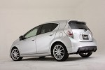 TOM'S Racing Rear Spoiler (Paint Code 1F7) - Toyota Prius C 11+