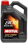 Motul Synthetic Engine Oil 8100 0w20 ECO-LITE - 5L (1.3gal)