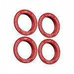 Fifteen52 Holeshot RSR Center Ring with Corner Designation (Set of 4) - Red