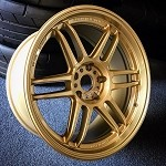 AME Tracer TM02 Wheels 18x9.0 +15 5x114.3 Racing Gold