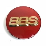 BBS Center Cap - Red W/ Gold 3D Logo - 56mm