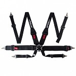 Buddy Club 6-point Harness - 2 inch Black (FIA)