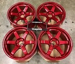 Rays Wheels Volk Racing TE37SL 18x9.5 +22 5x114.3 Hyper Red