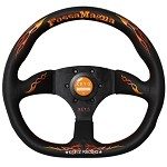 KEY'S Racing Fossa Magna (D-Shape) - 345mm (Black / Orange Stitch)
