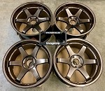 Rays Wheels Volk Racing TE37SL 19x9.5 & 19x10.5 +22 5x120 Staggered Hi-Meta Bronze