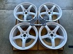 Rays Wheels Gram Lights 57CR Ceramic Pearl 19x9.5 +35 5x120