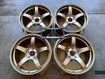 Yokohama Wheels Advan Racing TC III 18x9.5 +45 5x114.3 Racing Gold Metallic