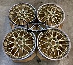 Weds Maverick 709M 18x9.5 +39 5x114.3 Gold w/ Polished Lip