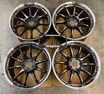 Work Wheels Emotion ZR10 18x9.5 +38 5x114.3 Glim Black Diamond Cut