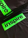 inspireUSA T-Shirt (Fall 2018) Black with Fluorescent Green - Small
