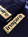 inspireUSA T-Shirt (Fall 2018) Black with Chrome Gold - Small