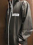inspireUSA Windbreaker (Fall 2018) Black with White - 2X-Large