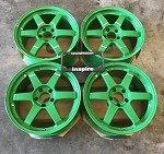 Rays Wheels Volk Racing TE37SL 18x9.5 +35 5x114.3 GT Green