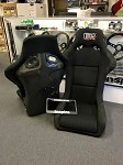 Chargespeed Sport Type Racing Bucket Seats in Black Cloth & Carbon Fiber