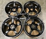 Yokohama Wheels Advan Racing TC-4 18x9.0 +25 5x114.3 Black Gunmetallic & Ring