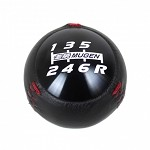 Mugen Shift Knob - Black Anodized / Leather