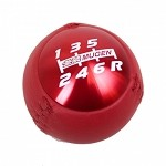 Mugen Shift Knob - Red Anodized / Leather